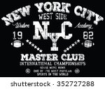 new york city sport  vector... | Shutterstock .eps vector #352727288