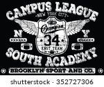 new york city    brooklyn sport ... | Shutterstock .eps vector #352727306