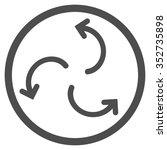 cyclone arrows vector icon.... | Shutterstock .eps vector #352735898