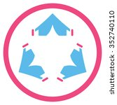 tent camp vector icon. style is ... | Shutterstock .eps vector #352740110