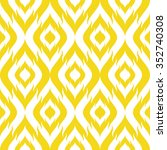 seamless faux ikat tribal... | Shutterstock .eps vector #352740308