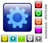 set of settings color glass...