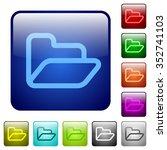 set of folder color glass...