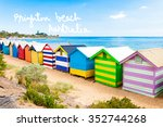 bathing boxes at brighton beach ... | Shutterstock . vector #352744268