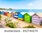 bathing boxes at brighton beach ... | Shutterstock . vector #352744274