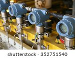 pressure transmitter in oil and ... | Shutterstock . vector #352751540