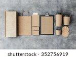 3d rendering of branding mockup | Shutterstock . vector #352756919