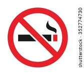 no smoking arabic logo vector. | Shutterstock .eps vector #352774730