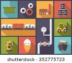 industry icons vector... | Shutterstock .eps vector #352775723