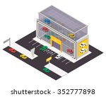 vector isometric car store... | Shutterstock .eps vector #352777898