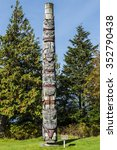 Small photo of Totem Pole made by the Haida peoples Prince Rupert British Columbia