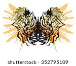 grunge spider butterfly and... | Shutterstock .eps vector #352795109