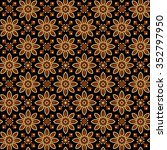 seamless batik pattern.able to... | Shutterstock . vector #352797950