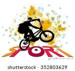 bmx biker. vector | Shutterstock .eps vector #352803629