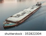 Cargo Ship Barge Loaded With...