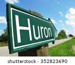 huron signpost along a rural... | Shutterstock . vector #352823690