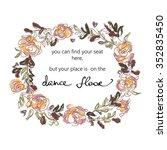 find your seat sign for wedding ...   Shutterstock .eps vector #352835450