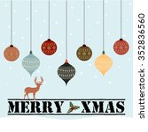 christmas design with hanging... | Shutterstock .eps vector #352836560