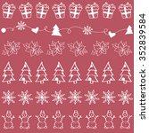 christmas seamless pattern. new ... | Shutterstock .eps vector #352839584