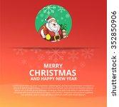 merry christmas santa character ...   Shutterstock .eps vector #352850906