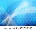 blue abstract background... | Shutterstock . vector #352852100