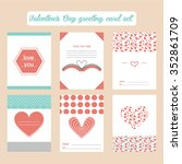 valentine's day greeting cards... | Shutterstock .eps vector #352861709