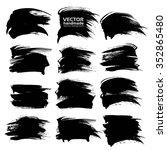 black big abstract textured... | Shutterstock .eps vector #352865480