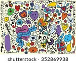 hand drawn vector illustration... | Shutterstock .eps vector #352869938