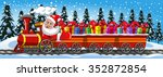 Cartoon Santa Claus Delivering...