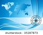 blue background with compass... | Shutterstock .eps vector #35287873