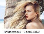 close up portrait of beautiful... | Shutterstock . vector #352886360