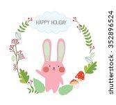 happy holiday. kids version.   Shutterstock .eps vector #352896524