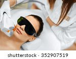skin care. young woman... | Shutterstock . vector #352907519