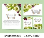 wedding invitation cards with... | Shutterstock . vector #352924589