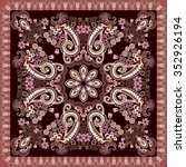 colorful bandanna decorated...   Shutterstock .eps vector #352926194