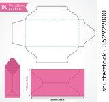 die cut vector envelope... | Shutterstock .eps vector #352929800