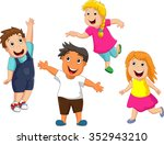 happy kid cartoon | Shutterstock .eps vector #352943210