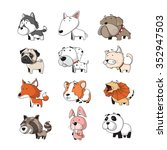 funny animal vector... | Shutterstock .eps vector #352947503