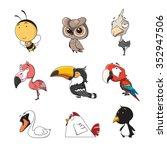 funny animal vector... | Shutterstock .eps vector #352947506