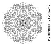 Mandala. Coloring Book Page.