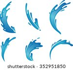 splashing water set variations... | Shutterstock .eps vector #352951850