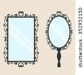mirror square and  mirror with... | Shutterstock .eps vector #352952150