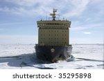 icebreaker on antarctica | Shutterstock . vector #35295898