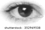halftone human eye | Shutterstock .eps vector #352969538