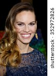 """Small photo of Hilary Swank at the Los Angeles Premiere of """"New Year's Eve"""" held at the Grauman's Chinese Theater in Los Angeles, California, United States on December 5, 2011."""