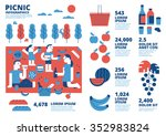 picnic  infographics | Shutterstock .eps vector #352983824
