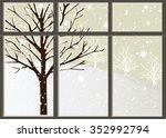 loneliness in winter   Shutterstock .eps vector #352992794