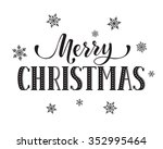 merry christmas postcard... | Shutterstock .eps vector #352995464