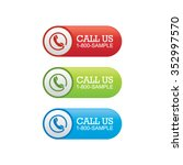 call us banners | Shutterstock .eps vector #352997570