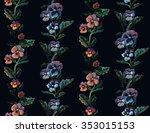 seamless floral pattern made... | Shutterstock . vector #353015153
